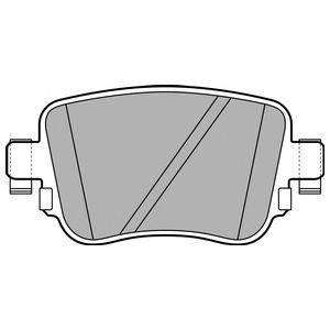 Комплект тормозных колодок, дисковый тормоз DELPHI LP2709