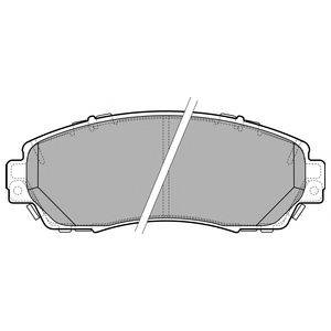 Комплект тормозных колодок, дисковый тормоз DELPHI LP2710