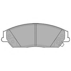 Комплект тормозных колодок, дисковый тормоз DELPHI LP2714