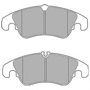 Комплект тормозных колодок, дисковый тормоз DELPHI LP2715