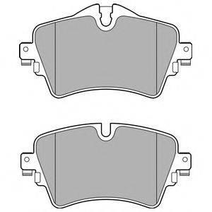 Комплект тормозных колодок, дисковый тормоз DELPHI LP2717