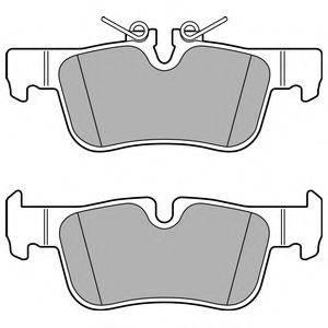 Комплект тормозных колодок, дисковый тормоз DELPHI LP2719