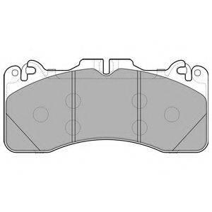 Комплект тормозных колодок, дисковый тормоз DELPHI LP2760