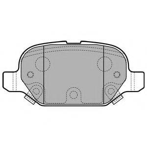 Комплект тормозных колодок, дисковый тормоз DELPHI LP2761