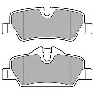 Комплект тормозных колодок, дисковый тормоз DELPHI LP2762