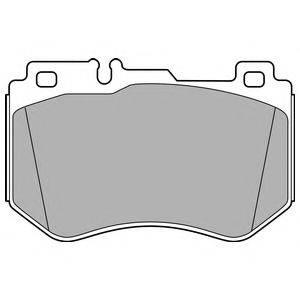 Комплект тормозных колодок, дисковый тормоз DELPHI LP3137