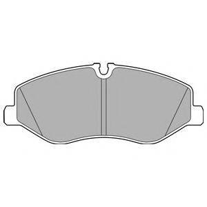 Комплект тормозных колодок, дисковый тормоз DELPHI LP3138