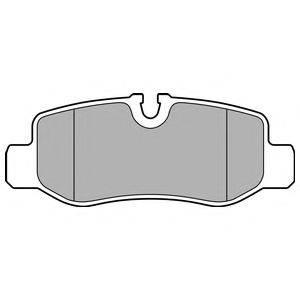 Комплект тормозных колодок, дисковый тормоз DELPHI LP3139