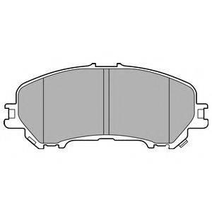 Комплект тормозных колодок, дисковый тормоз DELPHI LP3144