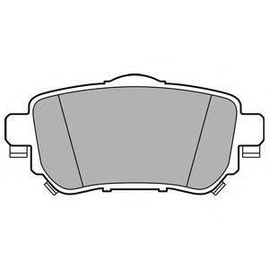 Комплект тормозных колодок, дисковый тормоз DELPHI LP3145
