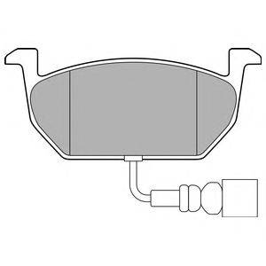 Комплект тормозных колодок, дисковый тормоз DELPHI LP3146
