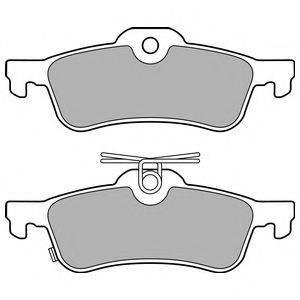 Комплект тормозных колодок, дисковый тормоз DELPHI LP3147