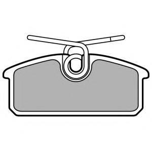 Комплект тормозных колодок, дисковый тормоз DELPHI LP3150