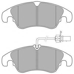 Комплект тормозных колодок, дисковый тормоз DELPHI LP3152