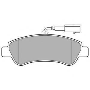 Комплект тормозных колодок, дисковый тормоз DELPHI LP3153