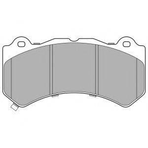 Комплект тормозных колодок, дисковый тормоз DELPHI LP3154