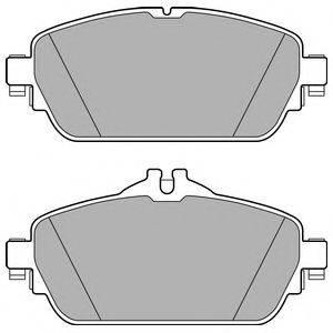 Комплект тормозных колодок, дисковый тормоз DELPHI LP2764
