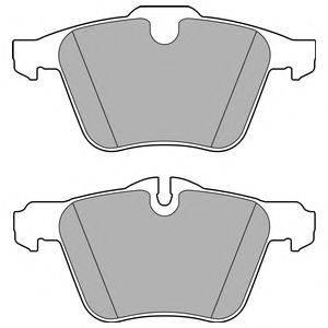 Комплект тормозных колодок, дисковый тормоз DELPHI LP2766