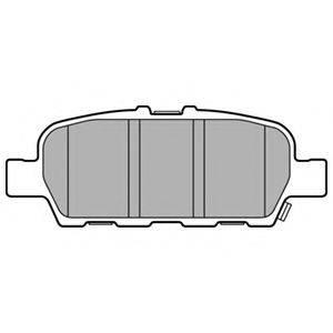 Комплект тормозных колодок, дисковый тормоз DELPHI LP3158