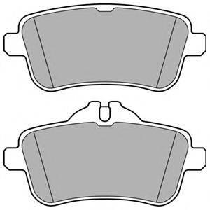 Комплект тормозных колодок, дисковый тормоз DELPHI LP3159