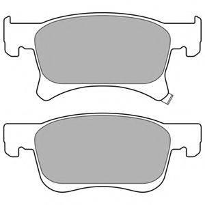 Комплект тормозных колодок, дисковый тормоз DELPHI LP3164