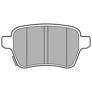 Комплект тормозных колодок, дисковый тормоз DELPHI LP3165
