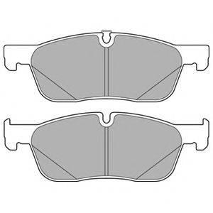 Комплект тормозных колодок, дисковый тормоз DELPHI LP3166