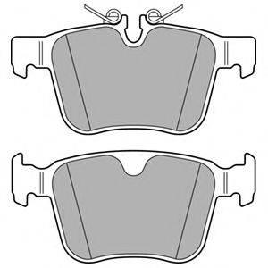 Комплект тормозных колодок, дисковый тормоз DELPHI LP3167