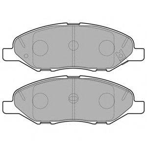 Комплект тормозных колодок, дисковый тормоз DELPHI LP3169