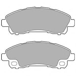 Комплект тормозных колодок, дисковый тормоз DELPHI LP2716