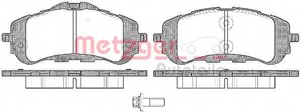 Комплект тормозных колодок, дисковый тормоз METZGER 1559.00