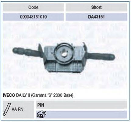 Выключатель на колонке рулевого управления MAGNETI MARELLI 000043151010