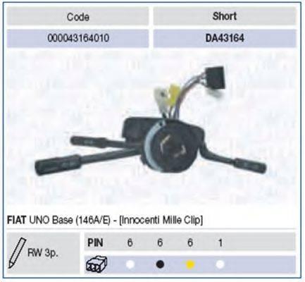 Выключатель на колонке рулевого управления MAGNETI MARELLI 000043164010