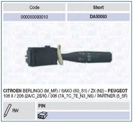 Выключатель на колонке рулевого управления MAGNETI MARELLI 000050093010