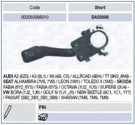 Выключатель на колонке рулевого управления MAGNETI MARELLI 000050098010