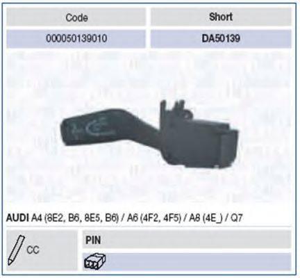 Выключатель на колонке рулевого управления MAGNETI MARELLI 000050139010