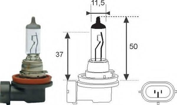 Лампа накаливания, фара дальнего света; Лампа накаливания, основная фара; Лампа накаливания MAGNETI MARELLI 002549100000